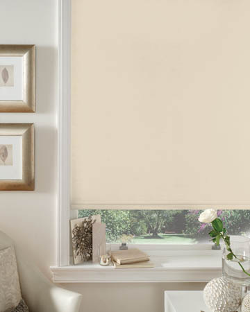 Natural and Beige Blackout Blinds