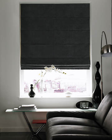 Black Roman Blinds