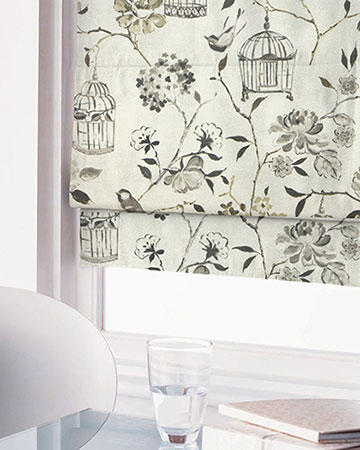 Cotton Prints Roman Blinds