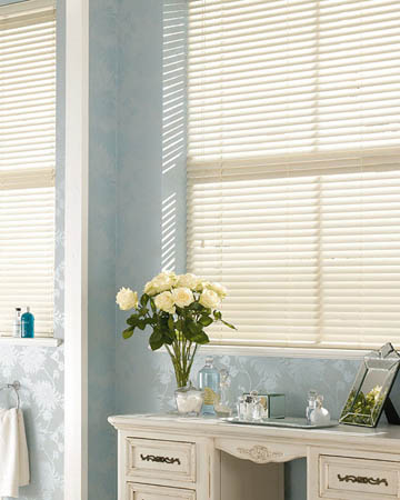 Kitchen & Bathroom Faux Wood Blinds