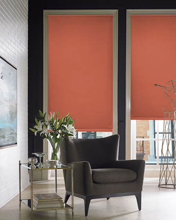 Orange Blackout Blinds