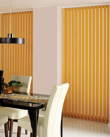 Orange Vertical Blinds