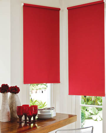 Red Blackout Blinds