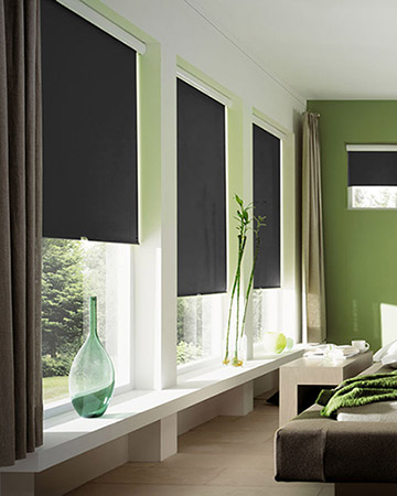 Black Roller Blinds