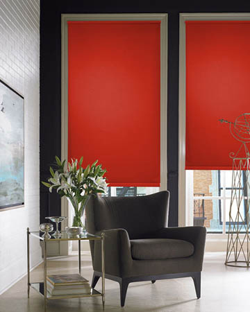 Red Roller Blinds