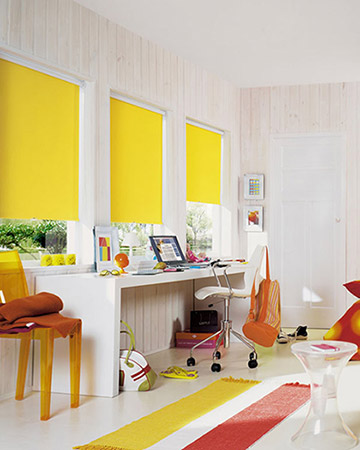 Yellow Roller Blinds