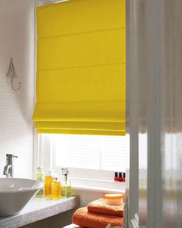 Yellow Roman Blinds