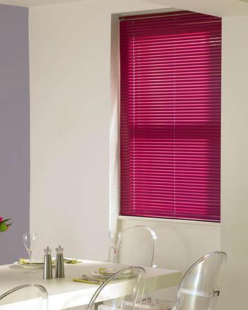Pink Venetian Blinds