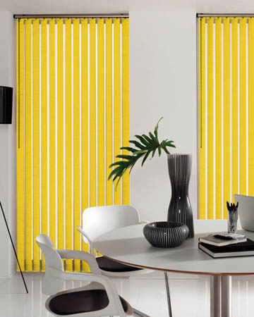 Yellow Vertical Blinds