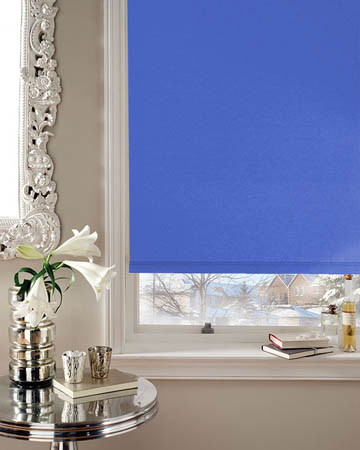 Cordless Bermuda Light Blue Blackout Blinds