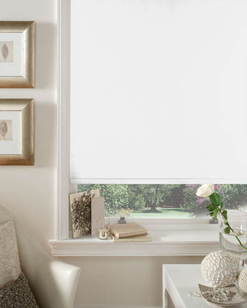 Cordless Bermuda White Blackout Blinds