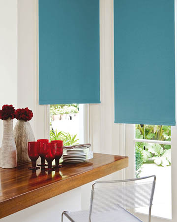 Bermuda Blue Coral Blackout Blinds