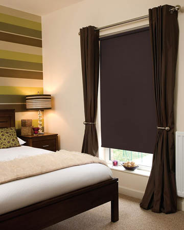 Bermuda Chocolate Brown Blackout Blinds