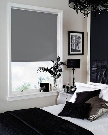 Bermuda Dark Grey Blackout Blinds