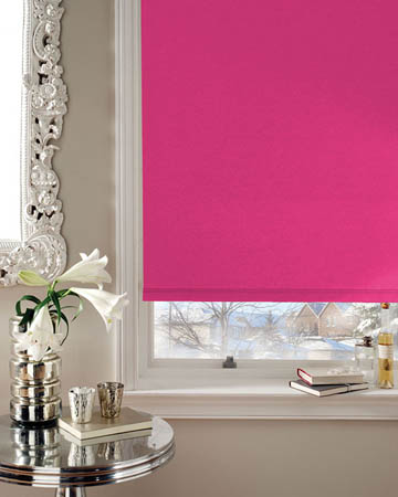 Cordless Bermuda Raspberry Blackout Blinds