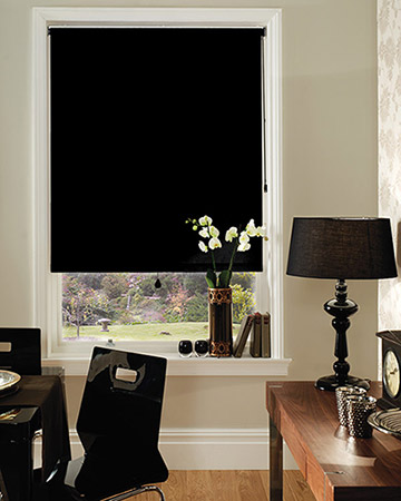 Splendor Black Blackout Blinds