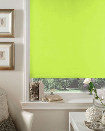 Cordless Lime Blackout Blinds