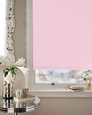Cordless Pink Blackout Blinds