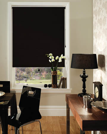 Decora Unilux Black Blackout Blinds