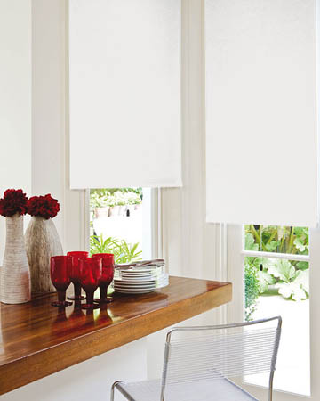 Decora Unilux White Blackout Blinds