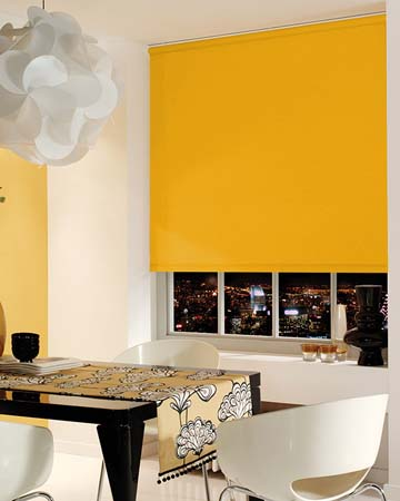 Louvolite Carnival Blackout Ochre Blackout Blinds