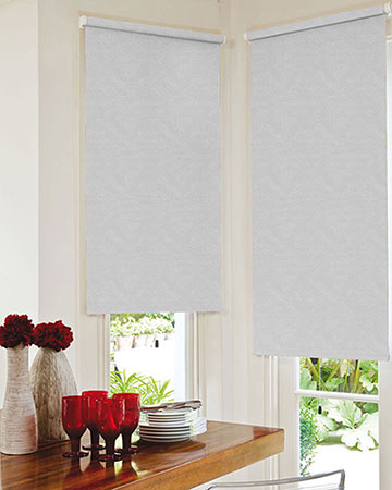 Louvolite Romany Light Grey Blackout Blinds