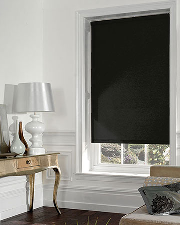 Louvolite Sundown Black Blackout Blinds
