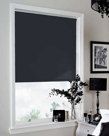 Louvolite Sundown Navy Blue Blackout Blinds
