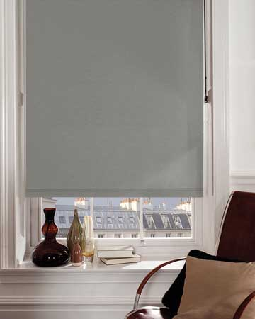 Louvolite Sundown Steel Grey Blackout Blinds