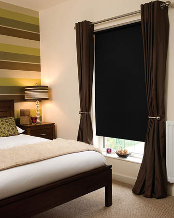 Moonlight Black Blackout Blinds