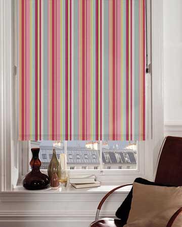 Presto Stripes Pink Blackout Blinds