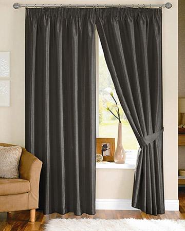 Clarke & Clarke Linoso Charcoal Curtains