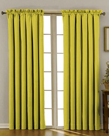 Clarke & Clarke Nantucket Celery Curtains