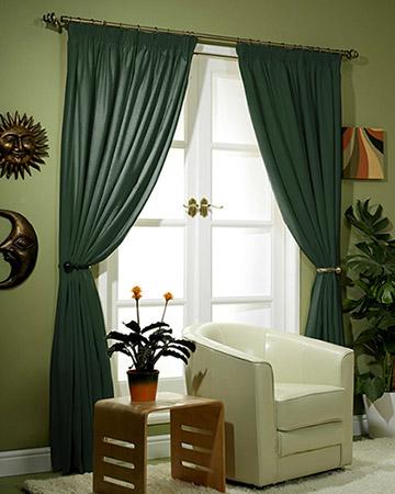 Clarke & Clarke Nantucket Malachite Curtains