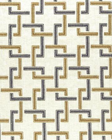 Clarke & Clarke Sekai Charcoal/Cinnamon Curtains