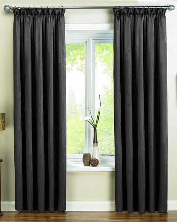 Dahlia Black Curtains