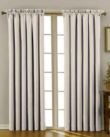 Idaho Rayure Verte Curtains