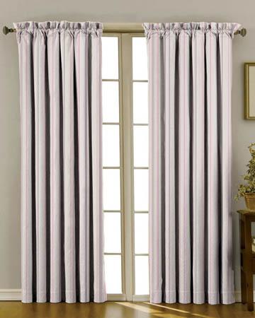 Idaho Rayure Violet Curtains
