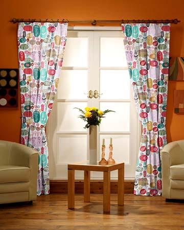 Majestic Flowers Curtains
