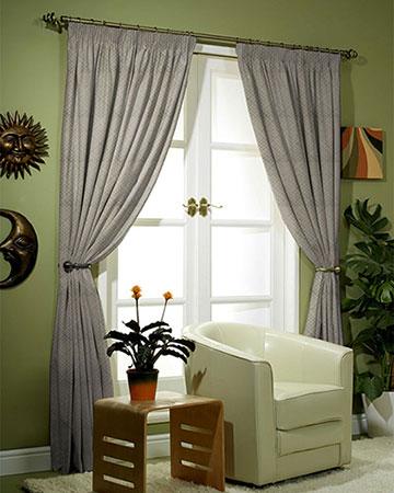 Paris Geometrique Gris Curtains