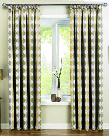 Green Curtains cream and lime green curtains : Blackout Curtains, Blackout Lined Curtains - Blinds UK