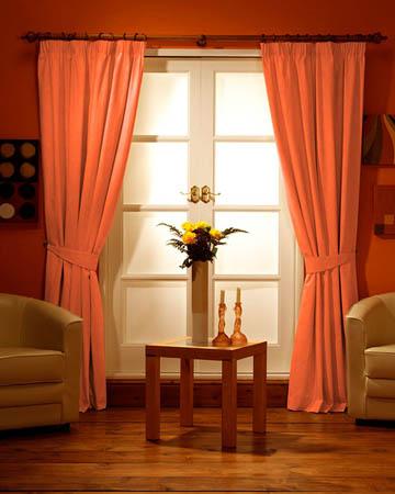 Prestigious Polo Red Orange Curtains