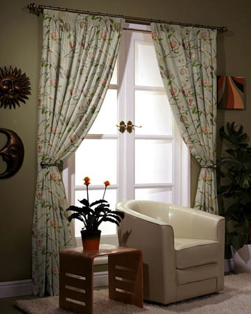 Floral Curtains, Flower Pattern Curtain - Blinds UK