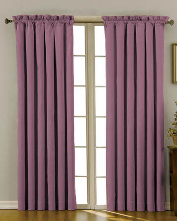 Soft Uni Raisin Curtains
