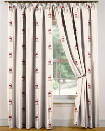 Tissu Belle Ile Optimist Rouge Curtains