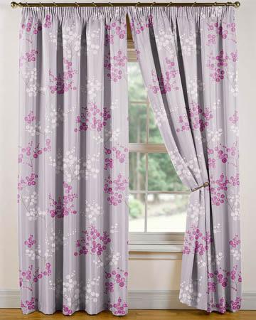 Tissu Fancy Garden Grappes Parme Curtains
