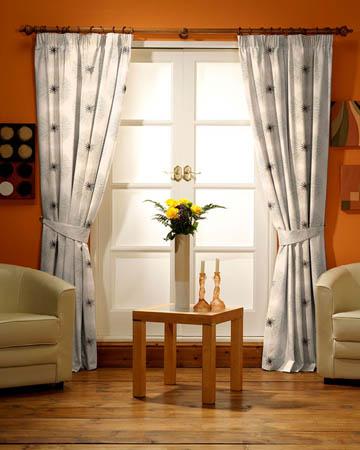 Tissu Glamour Broderie Soleil Sequin Taupe Curtains