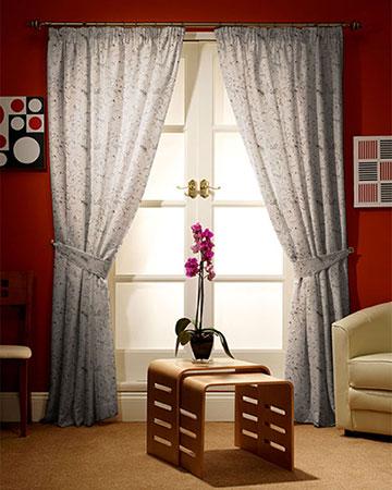 Tissu Gravure Crescendo Noir Curtains