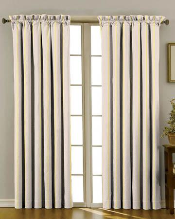 Tissu Lily Rose Rayure Taupe Vert Curtains