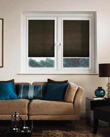 Window Wizz Honeycomb Black Pleated Blinds